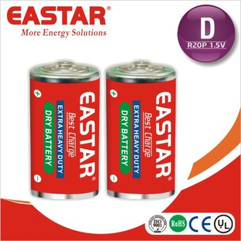 size D carbon zinc R20P dry cell batteries um1 primary battery