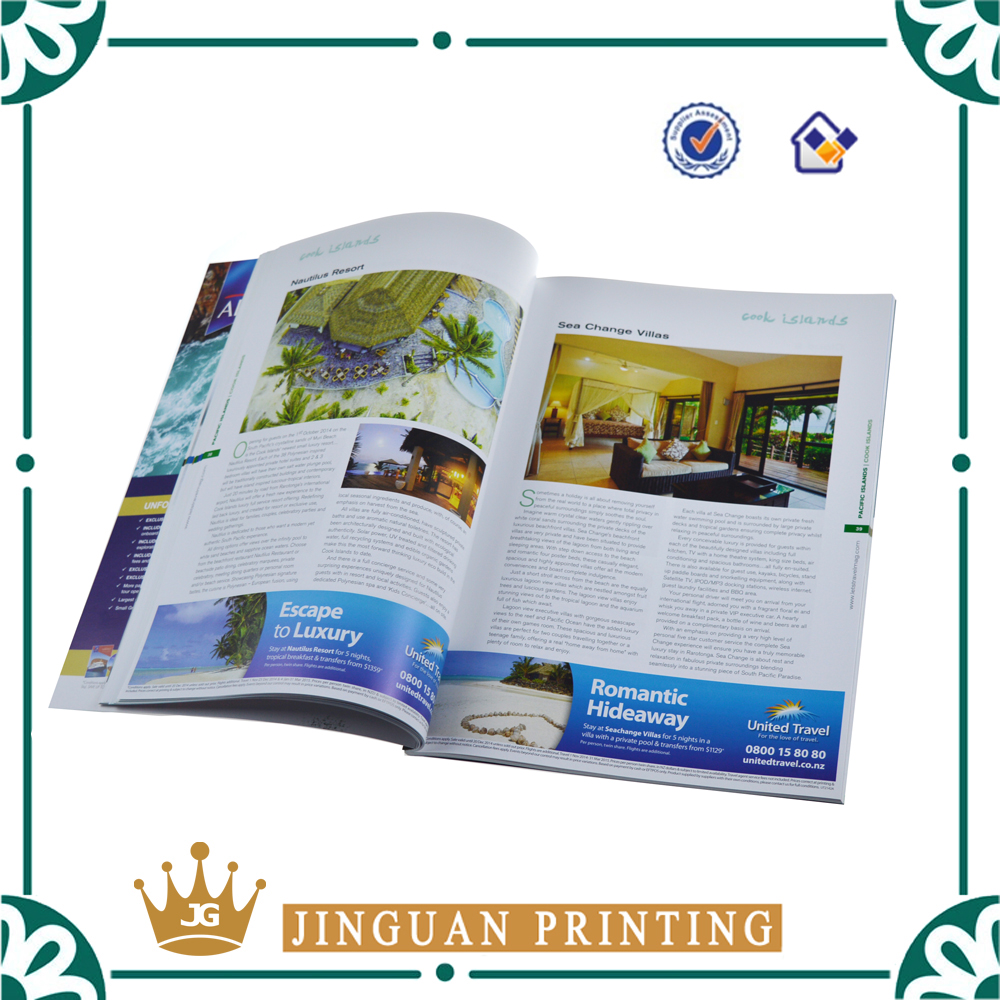 Professional Custom Glossy Coloring Magazine Printing