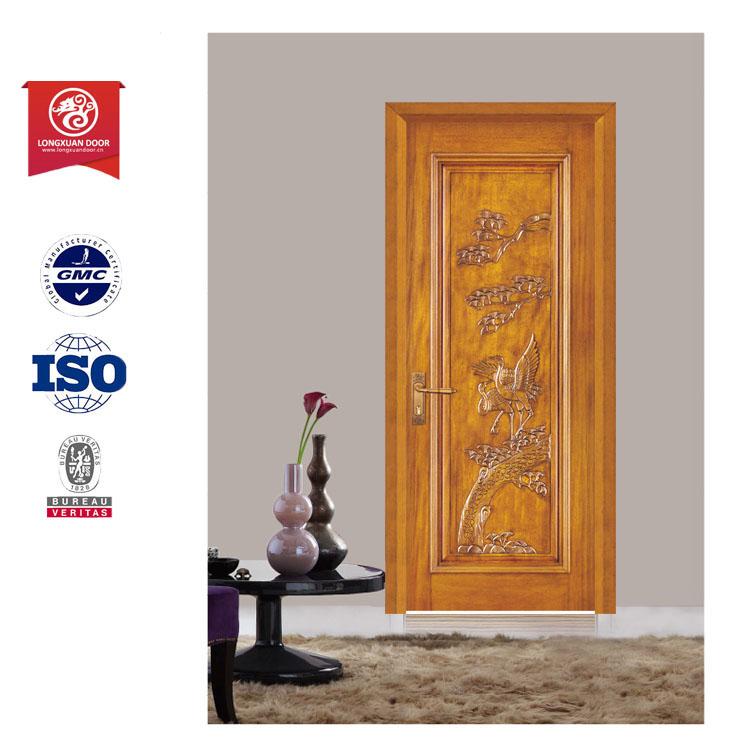 Thailand design wooden doorthai oak wood door and panel door lock