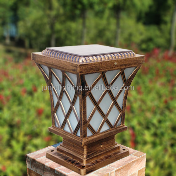 Antique And Classic Style Led Solar Pillar Light, Solar Post Cap Light,  Solar Gate