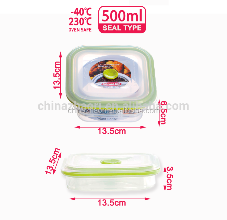 Amazon hot sale 500ml Silicone Food container
