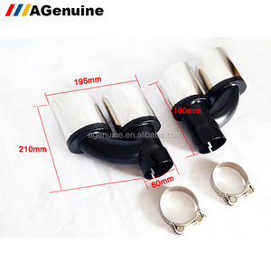 General use 304 stainless steel 4 pipes car tail emission silencer tips exhaust end muffler pipes for Audi A1 A3 A4 A5 A6 A7
