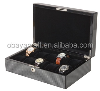 Contemporary Watch Case for Men with Lock and Key