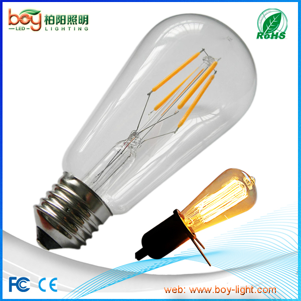 12V 24V 36V ST64 light bulb 12V E27 edison E26 12v st64 led