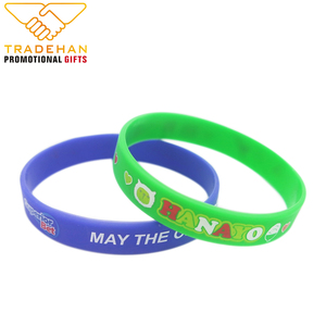 Custom silicone armbands customized printed logo silicone rubber wristbands