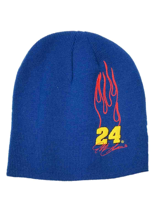38c3edc948d Get Quotations · Winner s Circle Men s Blue  24 Jeff Gordon Racing Beanie  Stocking Cap Hat
