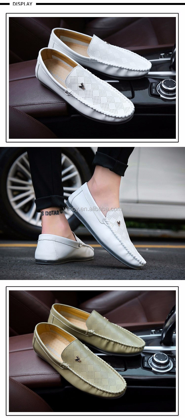 Mens Leather Loafers Shoes Casual Driving Car Shoes soft comfortable shoes