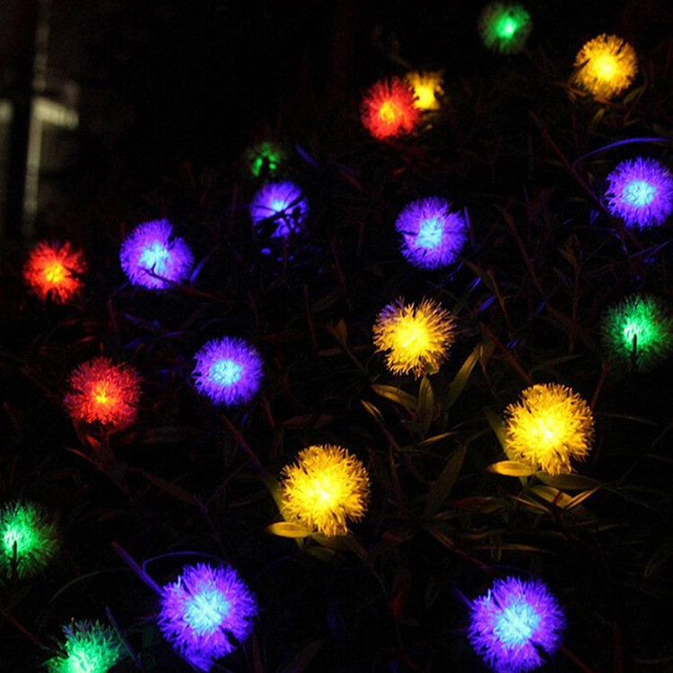 20 head of solar bayberry lamp string, 20LED Christmas lights string, LED hair bulb, string Ebay source of goods