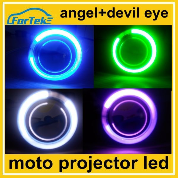 rgb angel eye devil eye projector lend headlight for motorcycle high low beam