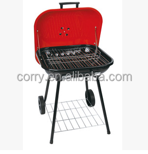 Hanmburger Style Tripod Portable Charcoal Bbq Grill Barbecue Pits With Lid And Wheel