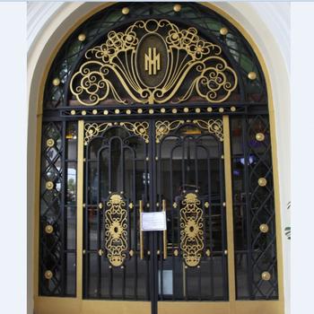 Hongtu Worught Iron Single Door Design For Home - Buy Wrought Iron on