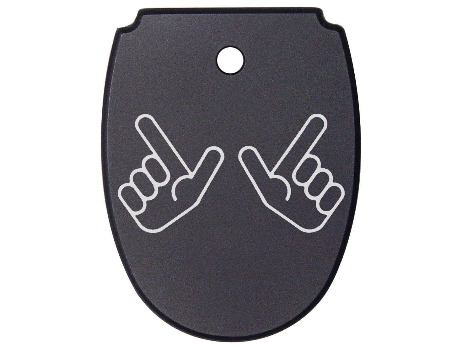NDZ Performance For SIG SAUER P320 P250 Mag Plate Black .45 Only Red Raiders Guns Up Hand Symbol Texas Tech