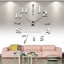 Big size 3D numbers DIY wall clock for whole sales