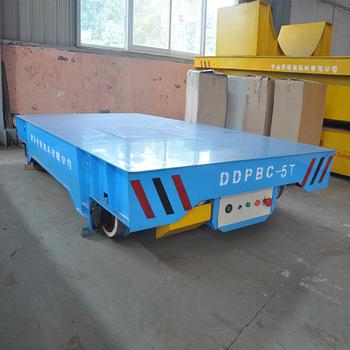 Dc Motor Special Transportation Steel Beam Handling Electric Rail Cart