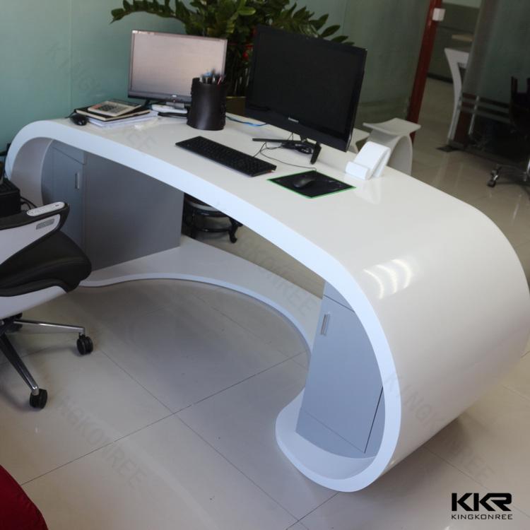 solid surface modern office reception desk design. Black Bedroom Furniture Sets. Home Design Ideas