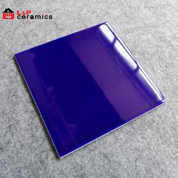 Usa Stylish 200x200 Dark Blue Subway Tile Ceramic For Kitchen Backsplash Bathroom Wall