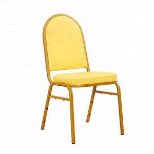 Hotel event stackable chair gold rental dining metal banquet chairs