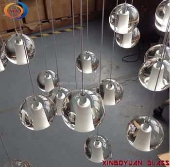 Hanging Crystal Gl Ball Chandelier Mini Pendant Light Led Modern Murano Lights