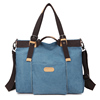 Hot selling online ladies' durable canvas leather handbag with super capacity