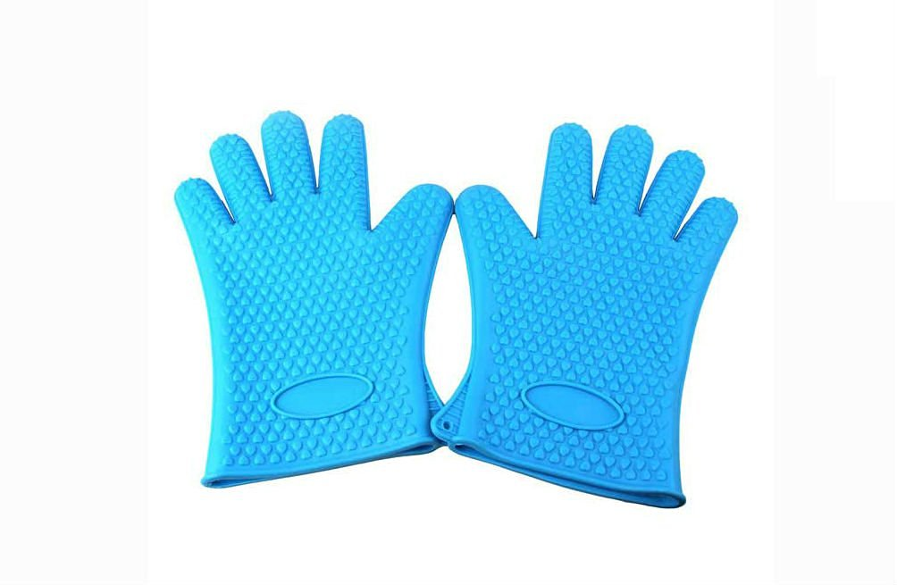 YIMOJI Food Grade Silicone Heat-resistant Grilling BBQ Gloves for Barbecue, Oven Baking, Smoking and Cooking