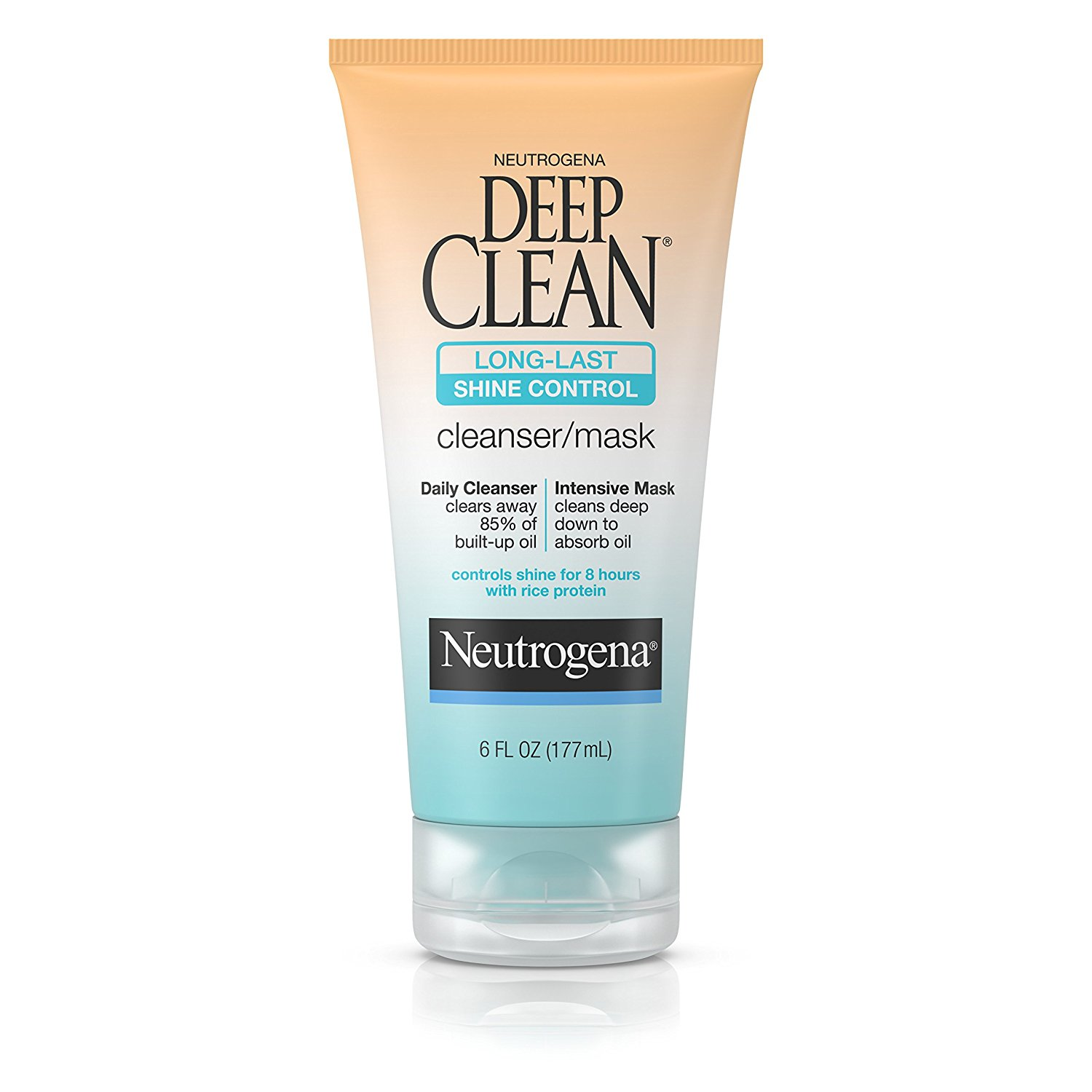 Neutrogena Deep Clean Long-Last Shine Control Facial Cleanser/Mask, 6 Fl. Oz. (Pack of 3)