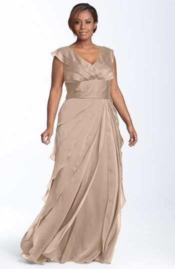 e807289869a Get Quotations · 2015 New Arrival khaki Mother Of The Bride Dresses Plus  Size With Pleat Backless V Neck