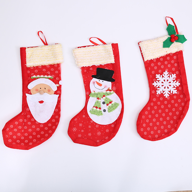 High-quality Mini wholesale christmas stocking santa socks home festival party ornaments