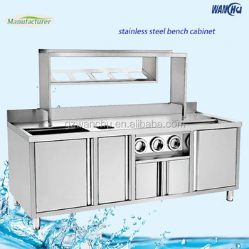Commercial Stainless Steel Kitchen Base Sink Cabinet/heavy Duty ...