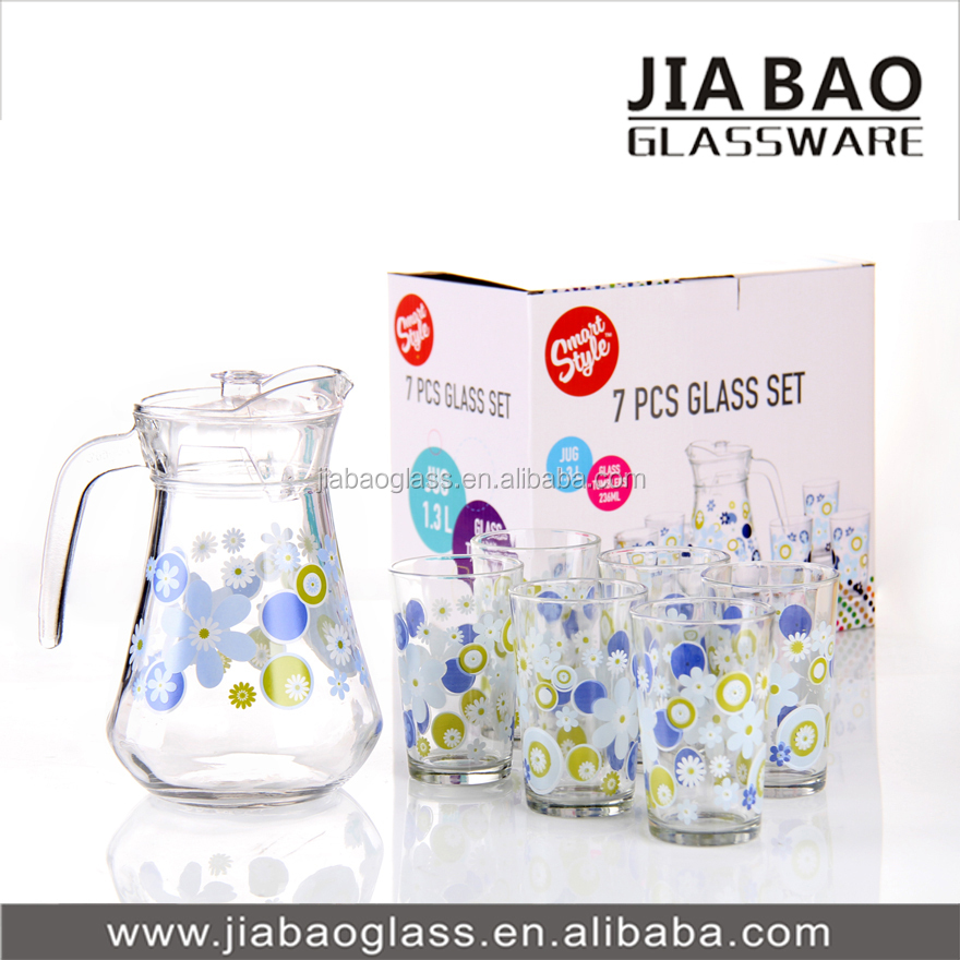 Pitcher Drinking Glass Set 7pcs Water Drinking Glass Set Deli ...