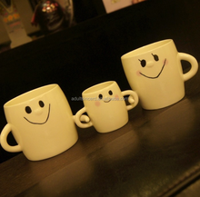 A family of three cups on a cup of creative cups of ceramic mugs