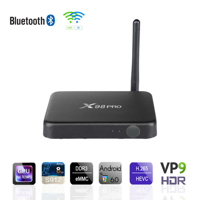 android tv box amlogic s912 android 6.0 4k smart android tv box X98 Pro