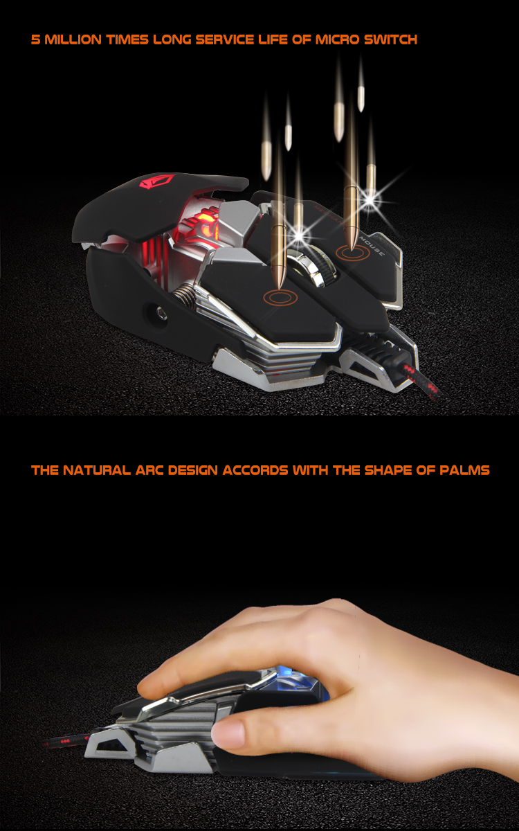 4000 DPI Optical USB Wired Professional Gaming Mouse RGB Gaming Mouse