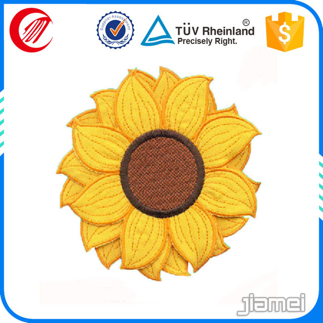 Custom Sunflower Applique Embroidery For Children Garments