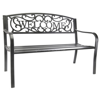 Awe Inspiring Jordan Welcome 50 In Metal Garden Bench Buy Garden Benches Uk Outdoor Storage Bench Metal Garden Benches For Sale Product On Alibaba Com Gmtry Best Dining Table And Chair Ideas Images Gmtryco