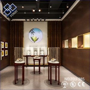 Jewelry shop interior design with 3d draws