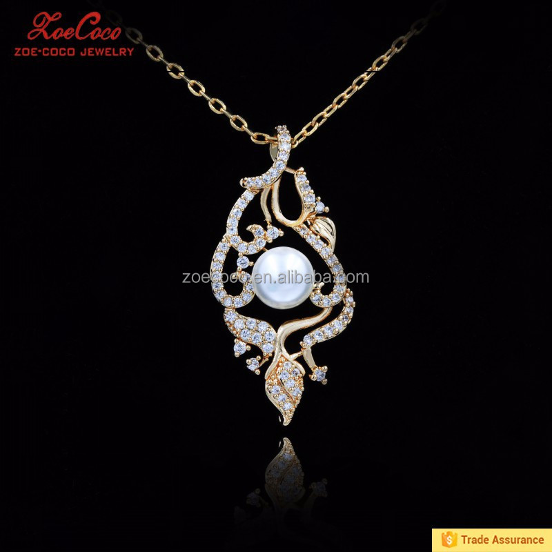 fashion 18k gold plated jewelry set pendant necklaces
