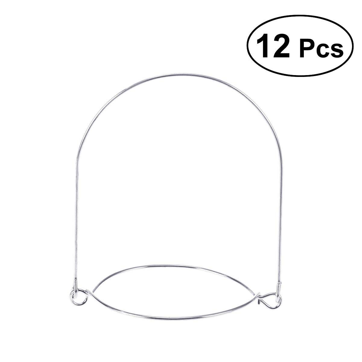 BESTONZON 12pcs Mason Jar Wire Handles Stainless Steel Canning Jars Hanger for Regular Mouth