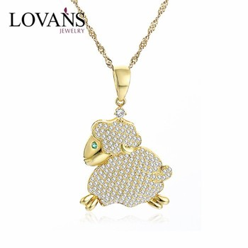 Gold Color Symbol Chinese Zodiac Goat Pendant Spg150r Buy Zodiac