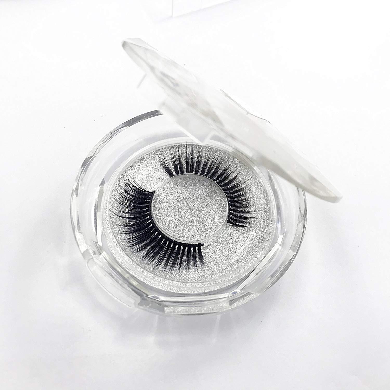 6a17d87b2da Get Quotations · Elves world 3D Fiber Eyelashes Handmade Natural Fluffy Long  False Eyelashes Play Makeup False Eyelashes 1