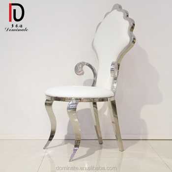 Incroyable Hotel Furniture White PU Leather Modern Baroque Dining Chair,baroque Style  Chair