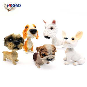 China factory wholesale make your own polyresin figurine dog bobblehead