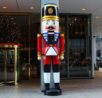 Giant fiberglass Nutcracker soldier statue for ourdoor decoration