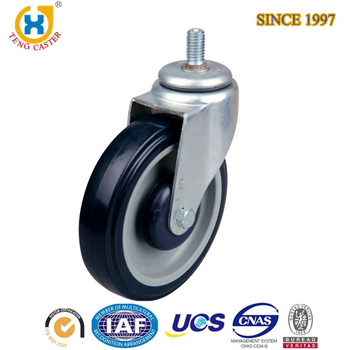125 mm Trolley Wheel Caster Industrial PU Plastic Removable Caster Wheels