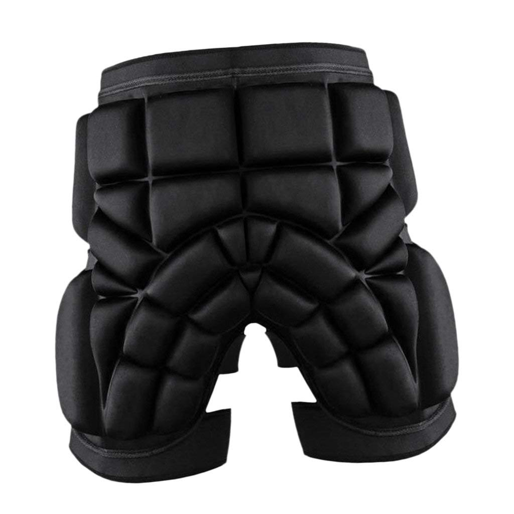 Dovewill Impact-resistant Thickened 2.5cm Skiing Hip Butt Pad Roller Skating Snowboard Padded Safe Shorts Guard Black S M L