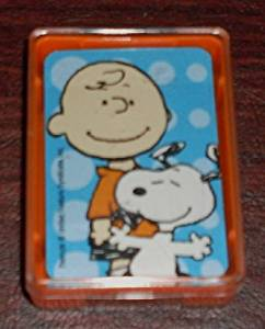 Rare! Peanuts Deck Mini Playing Cards - Snoopy & Charlie Brown