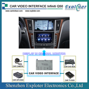 Customize Android Video interface GPS device For Infiniti Q50 2015