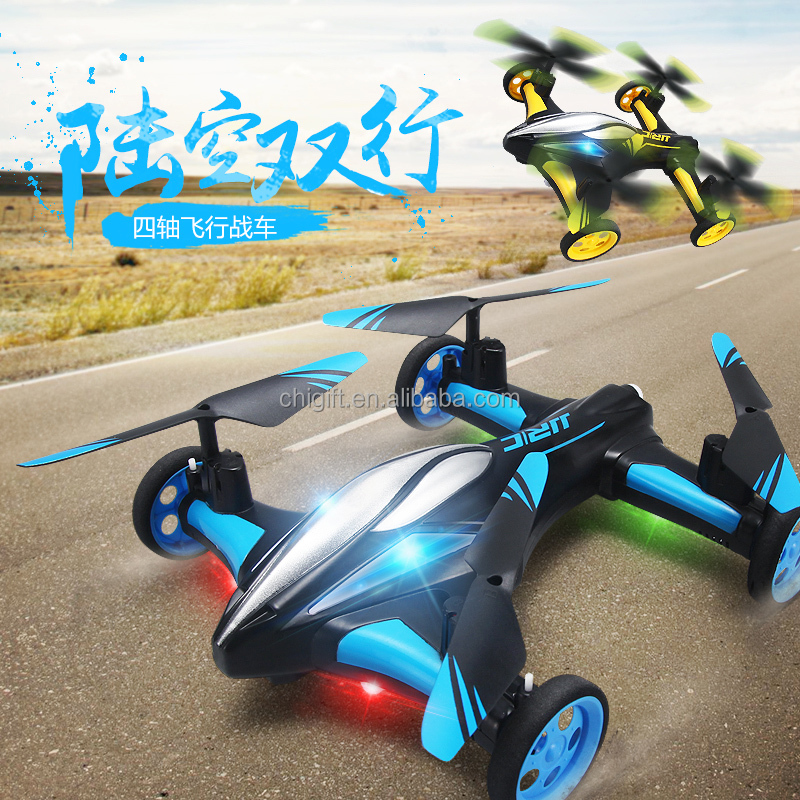 H23 RC Quadcopter met Wielen Land/Sky 2 in 1 RC Drone Vliegende auto