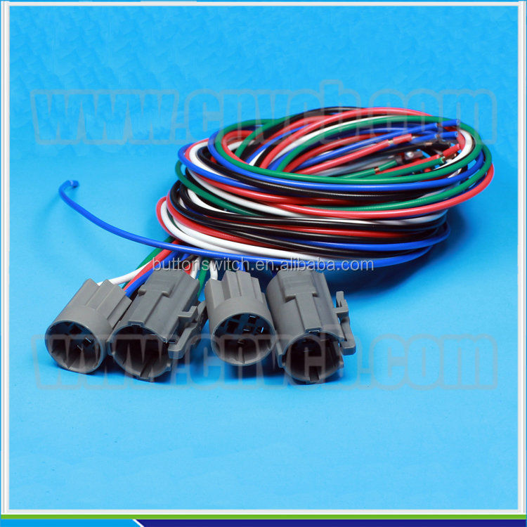 19mm 22mm led metal push button switch wire harness and 4 19mm 22mm led metal push button switch wire harness and 4 hole connector