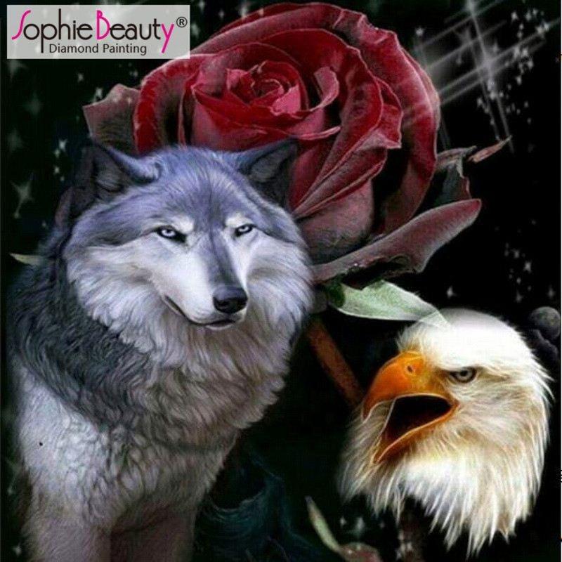 недавно павловец показать открытку волка с розой окаймлены причудливо