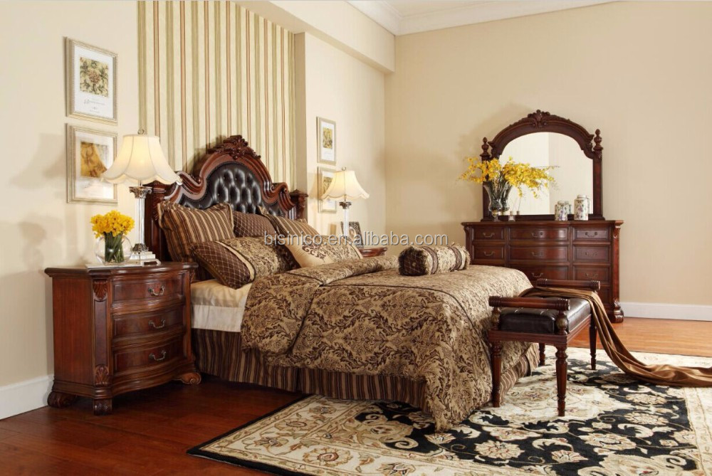 Hout Slaapkamer Meubels : Luxe meubels kingsize bed solid mahonie hout slaapkamer meubels